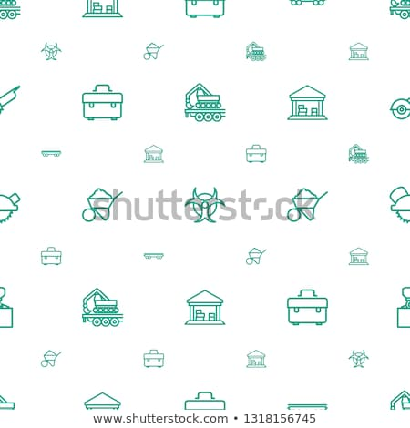 Seamless background design with barn and wagons Stock photo © colematt