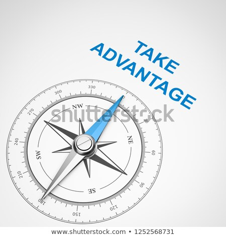 Compass on White Background, Take Advantage Concept Stock photo © make