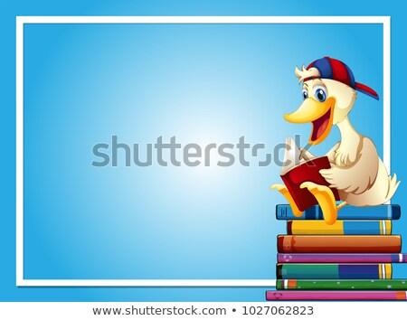 lezing · uil · illustratie · boek · vogel · studie - stockfoto © colematt
