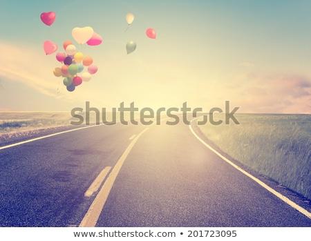 にログイン · ビーチ · 愛 · 赤 · 心臓の形態 · 空 - ストックフォト © nito