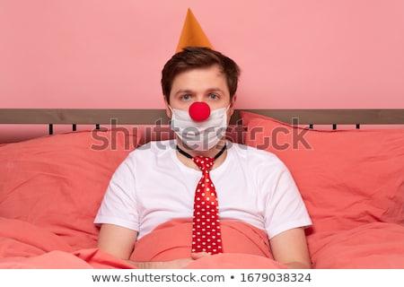 Fiatalember ünnepel születésnap kórház telefon doboz Stock fotó © Elnur