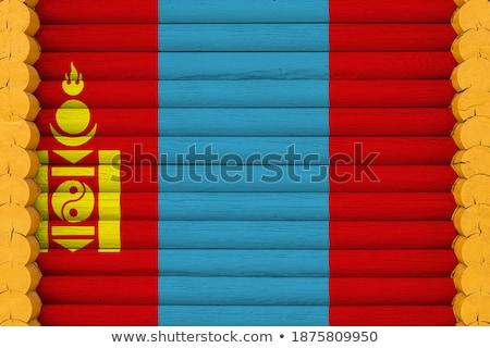 Ház zászló Mongólia csetepaté fehér házak Stock fotó © MikhailMishchenko