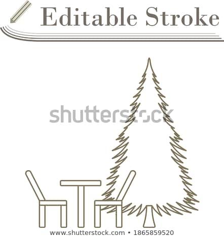 公園 座位 松樹 圖標 設計 商業照片 © angelp