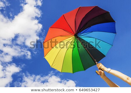 The opened multi-colored umbrella Stock photo © mayboro