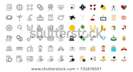 lottery flat icons set stock photo © netkov1