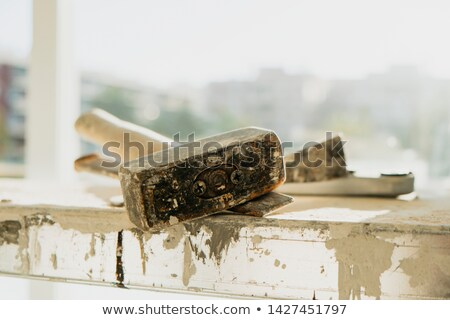 a metal mallet and a chisel on a working platform Stock photo © nito