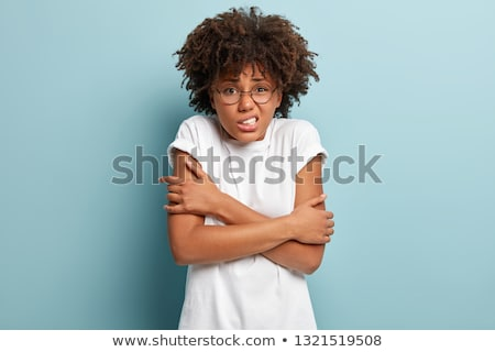 Bang jonge vrouw hand weg Stockfoto © Giulio_Fornasar