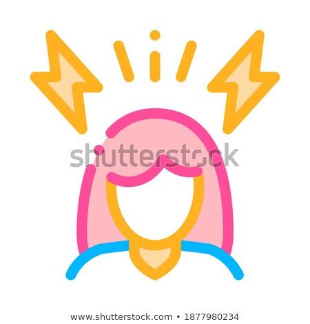 головная боль беременности вектора знак икона тонкий Сток-фото © pikepicture