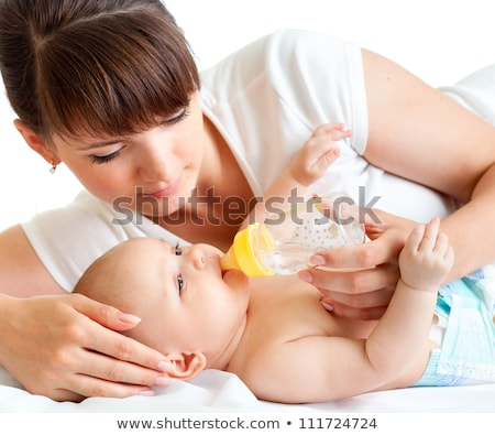 young mother with a charming baby Stock photo © Lopolo