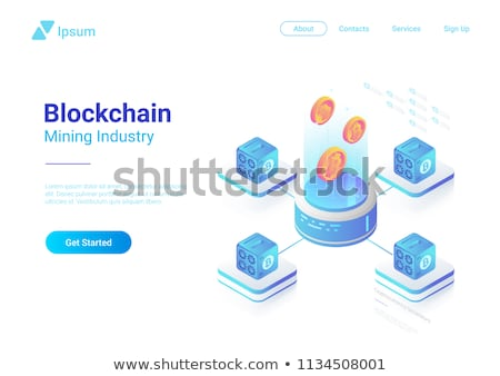 isometric cryptocurrency banner stock photo © sanyal