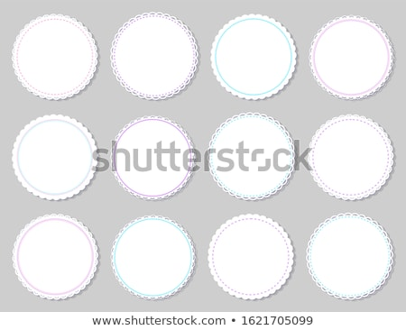 round napkins with various edges isolated on grey stock photo © robuart