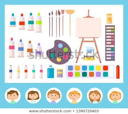 ストックフォト: キャンバス · その他 · ツール · 絵画 · 子供 · ベクトル