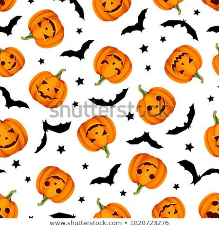 Stok fotoğraf: Halloween · fener · model