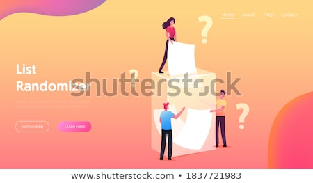 Fortune telling concept landing page Stock photo © RAStudio