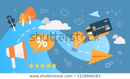 Satisfaction fidélité client génération analyse Photo stock © RAStudio