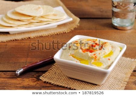 Plantaardige aubergine room geserveerd toast voedsel Stockfoto © grafvision