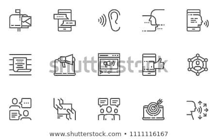 Word of mouth promotion flat vector illustration Stock photo © RAStudio