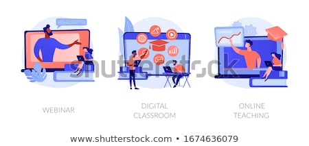 Online education, e learning flat vector illustration Stock photo © RAStudio