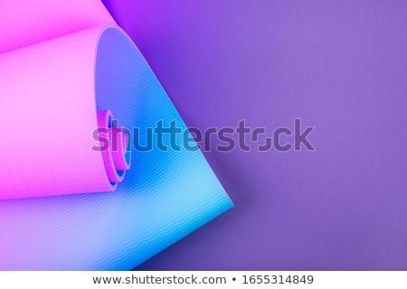 Dieet neon tekst sport promotie vrouw Stockfoto © Anna_leni
