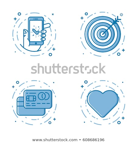 Credit Card Target Icon Vector Outline Illustration Stock photo © pikepicture