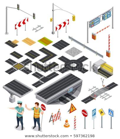 set isometric road barriers Stock photo © Mark01987