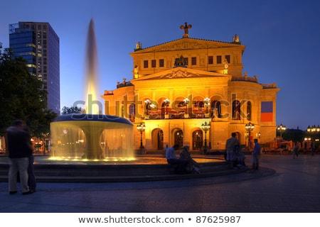 Oude opera huis Frankfurt nacht verlicht Stockfoto © manfredxy