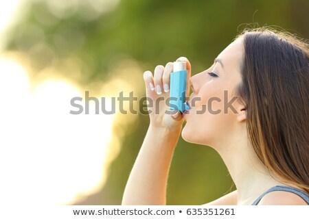 Teen astma probleem hemel man sport Stockfoto © Lopolo