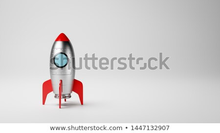 Cartoon Spaceship on White with Copyspace Stock photo © make