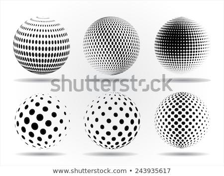 Vector halftone sphere design element Stock photo © designleo