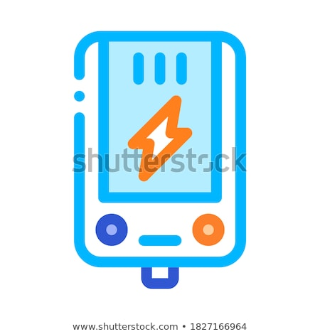 Electronic Main Block Heating System Vector Icon Stock photo © pikepicture