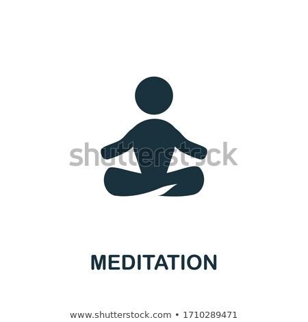 Yoga Pose Biohacking Icon Vector Illustration Stock photo © pikepicture