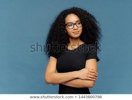 Foto satisfecho afro mujer manos Foto stock © vkstudio