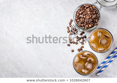 Nyár ital jeges kávé levendula üveg Stock fotó © Illia