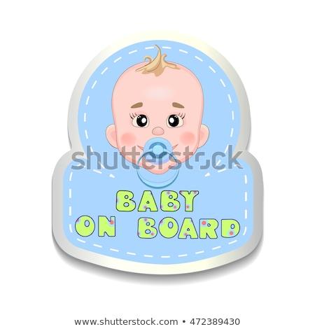 Bebé coche etiqueta nino bordo cara Foto stock © popaukropa
