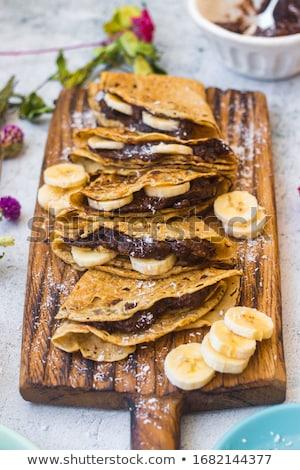木板 自家製 背景 朝食 ホット デザート ストックフォト © Alex9500
