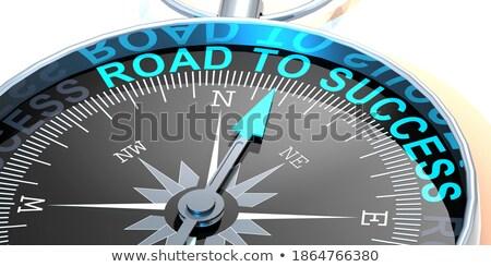 3D boussole aiguille pointant texte avenir Photo stock © tashatuvango