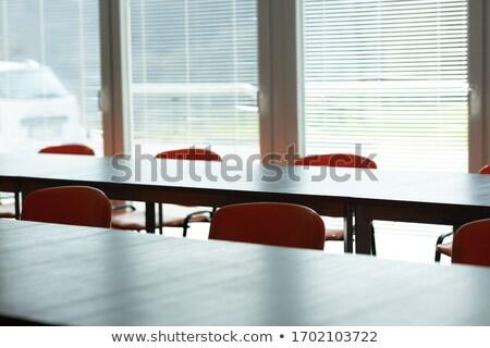Fényes elhagyatott konferenciaterem üres székek vírus Stock fotó © Giulio_Fornasar