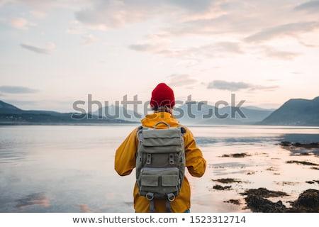 Man exploring the coast Stock photo © iko