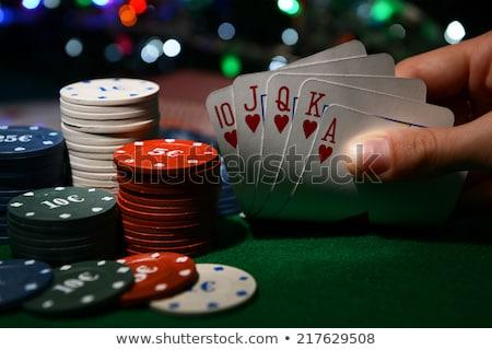 real · pôquer · cartões · conceitos · vitória · papel - foto stock © johnkwan
