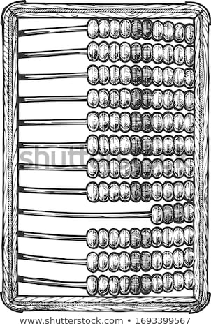 vector old wooden abacus Stock photo © tottoro