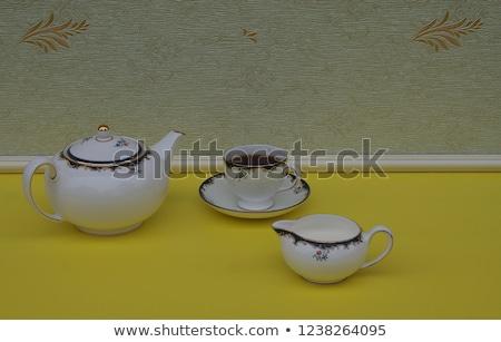 ősi Kína teáskanna tejesflakon öreg kínai Stock fotó © backyardproductions