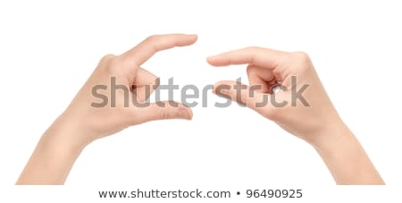 two hands and a pinch Stock photo © prill