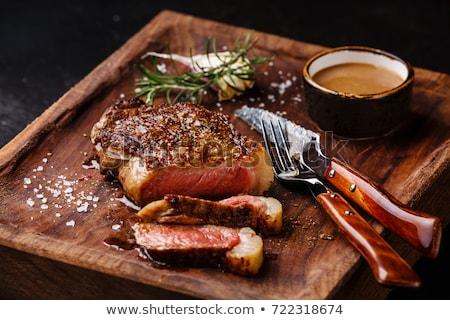 kaburga · göz · biftek · mısır · ızgara - stok fotoğraf © vichie81