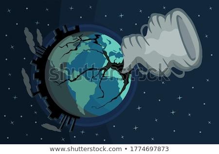 terre · berceau · planète · terre · action · sombre - photo stock © leeser