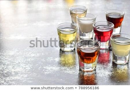 cocktail · vetro · raccolta · popolare · bicchieri · di · vino · isolato - foto d'archivio © karandaev