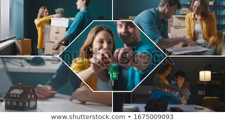 happy couple in their new apartment stock photo © photography33