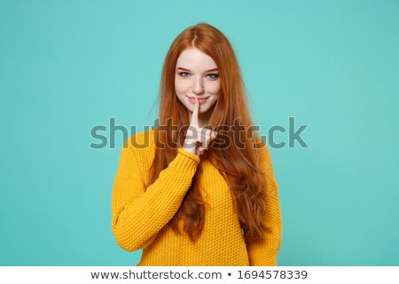 woman gesturing for quiet stock photo © photography33