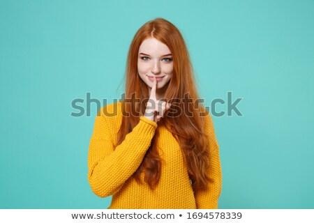 Mulher calma cara lábios jovem Foto stock © photography33