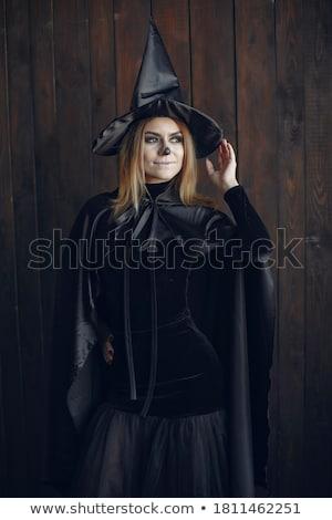 Escuro meninas retrato belo menina Foto stock © zastavkin
