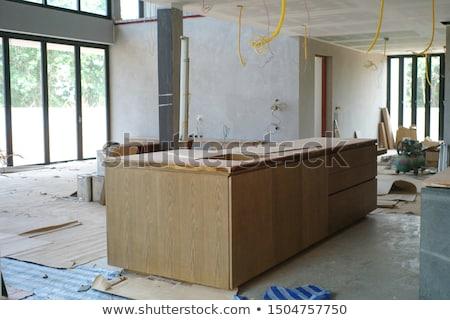 Stoffig bouw grunge teken vol stof Stockfoto © nikdoorg